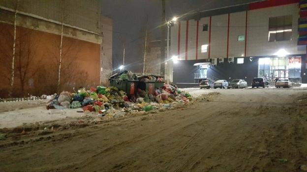 Площадка за ТЦ «Микс» в новогодние праздники