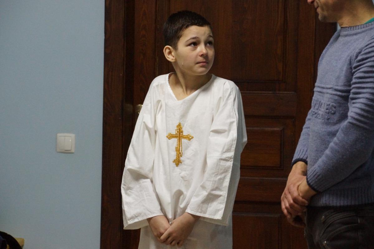Крещение трех новых обитателей кризисного центра 24