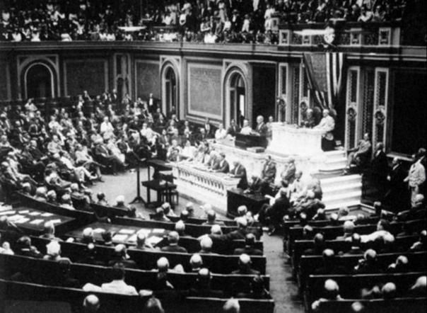 Президент Вильсон перед Конгрессом