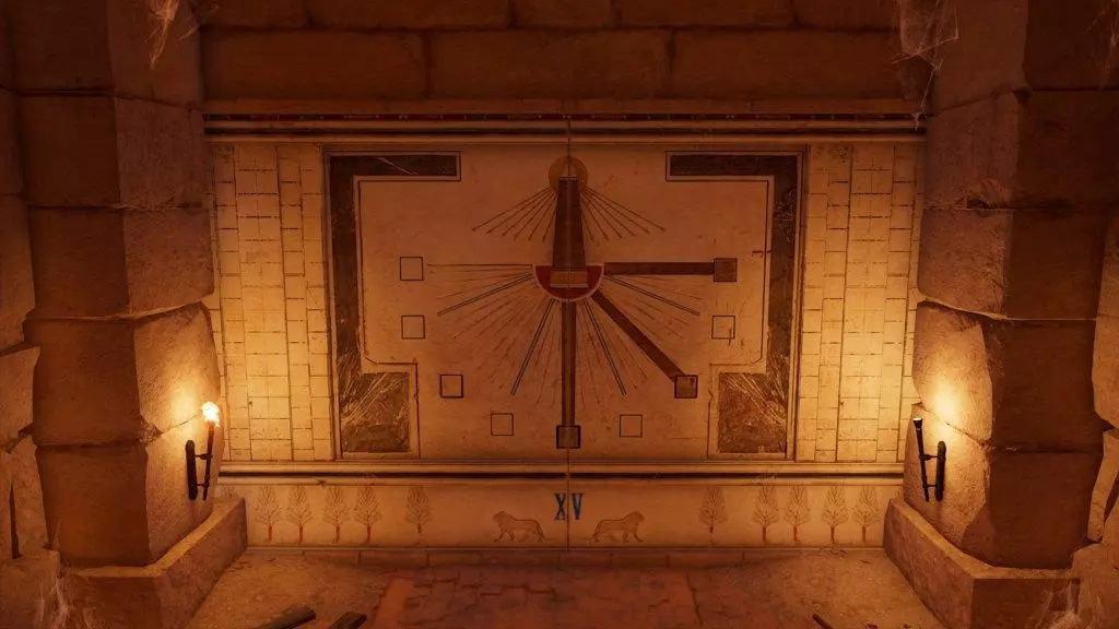 Дар богов руководство квест солнечные часы стена гробницы