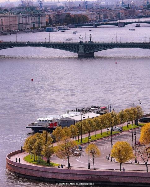 Троицкий мост и Петровская набережная...