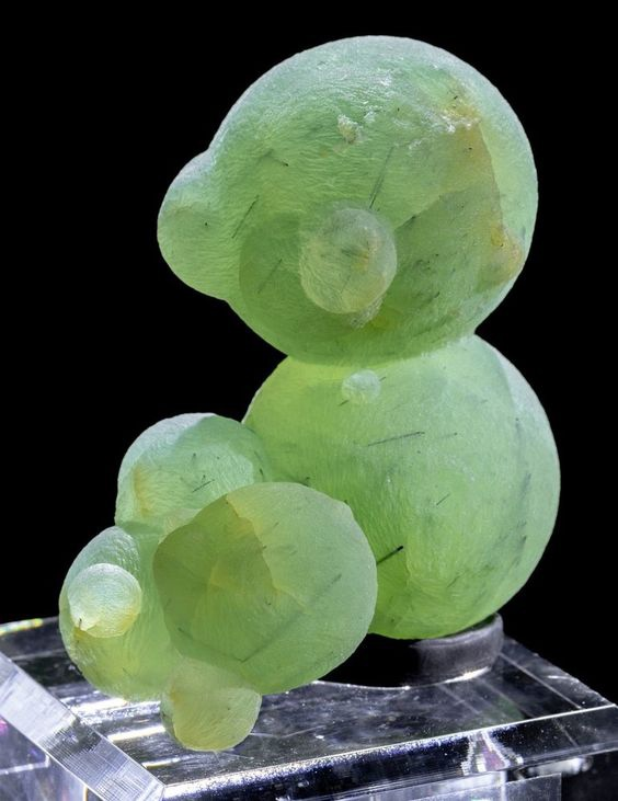 Large Prehnite Ball Cluster Mineral Specimen from Mali