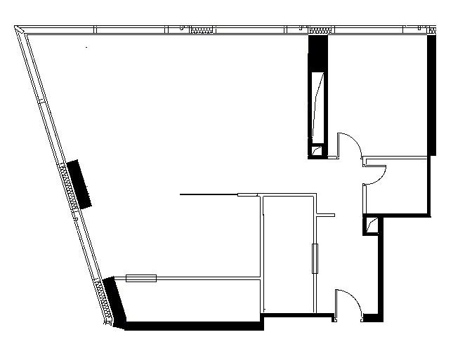 Проект квартиры 107 кв/м с кухней-гостиной-спальней, 42 этаж, Москва сити, комплекс
