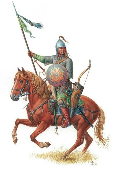 Булгарский воин. Иллюстрация.