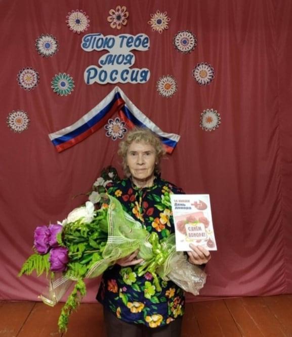 В селе Берёзовка поздравили с Днём донора Тамару Николаевну ФЕДОСЕЕВУ - почётного донора РСФСР