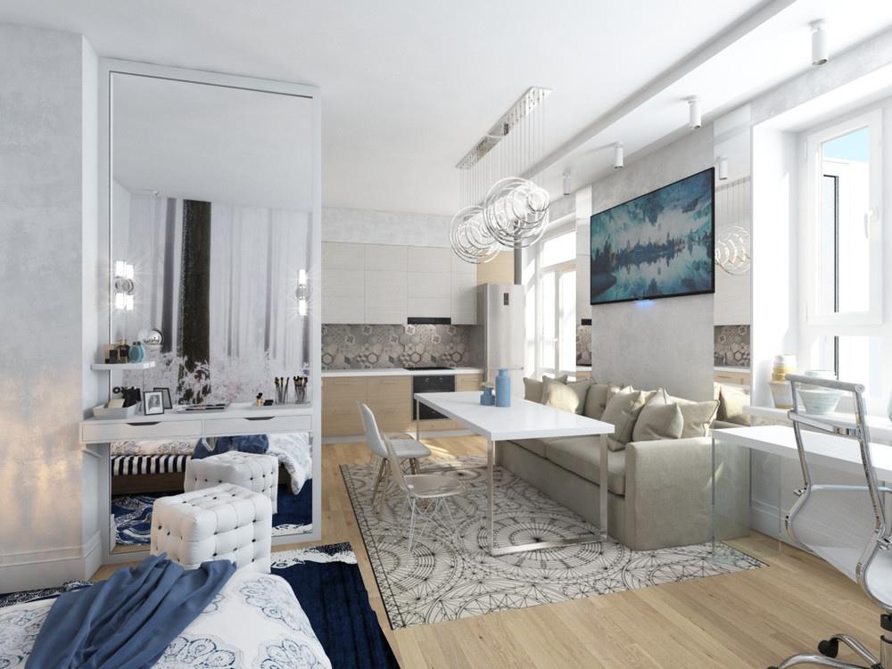 Концепт квартиры 30 кв.