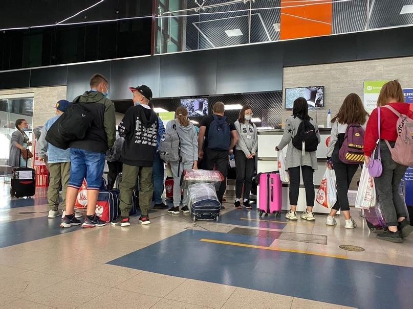 Дети из Нагайбакского района, которых эвакуировали из лагеря «Роднички», вылетели к Черному морю 🌊