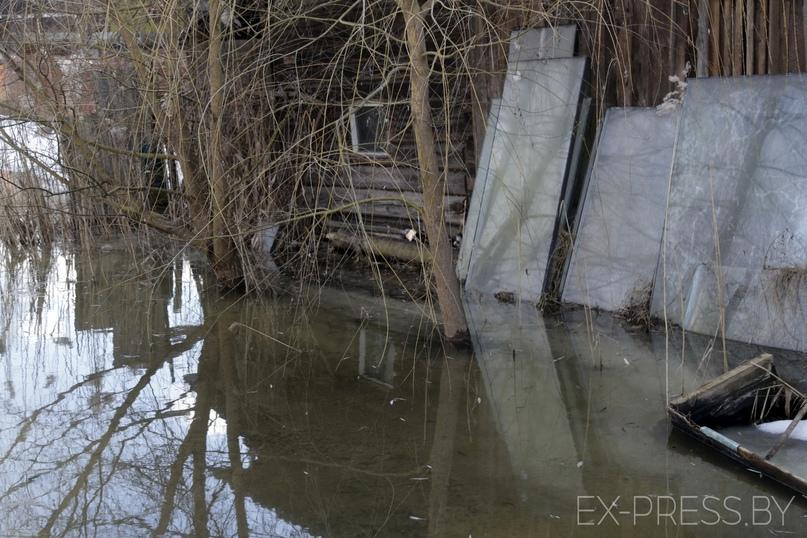 Частные дома в Дымках затапливает