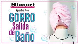 💲  Gorro-turbante salida de baño-spa, tipo envolvente, patrón gratis y coser fácil en casa (eng sub)