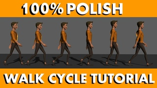how to animate a walk cycle (100% polish)