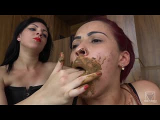 Lesbian Scat Domination - Take All My Shit In Your Mouth My Darling - The First Time By Kally Kalifa