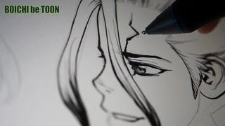 BOICHI's Real-time manga drawing show #15: Luna rencontre Senku /Dr. STONE Z=154