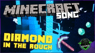 MINECRAFT SONG (Diamond In The Rough) LYRIC VIDEO - DAGames