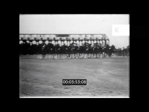 1940s 1950s USA Atlantic City Golf Sailing Horse Races 16mm