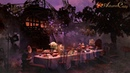 🍰🍵 TEA PARTY AMBIENCE: Tea Pouring, Sugar Cubes, Night Ambient Sounds, Chimes