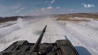 Тренировки танкистов морской пехоты ТОФ