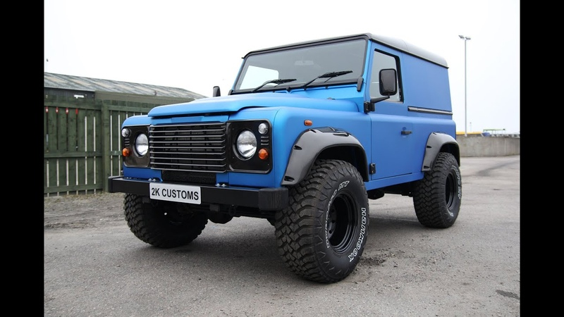 Landrover Defender full wrap in Arlon Blue Aluminium - 2K Customs Inverness