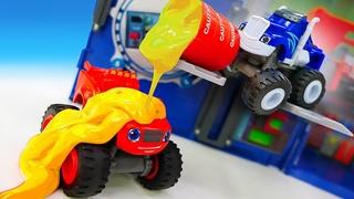 Vamos à oficina do Rusty Rivets! Histórias com carros de corrida de brinquedo Monster Machines
