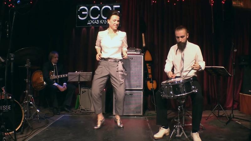 Игорь и Полина Ямпольские (Чечетка с барабаном)