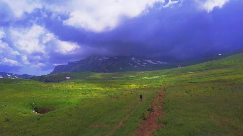 Одиночный поход на гору Оштен 4к | Hiking 30 km alone to Ohten Caucasus