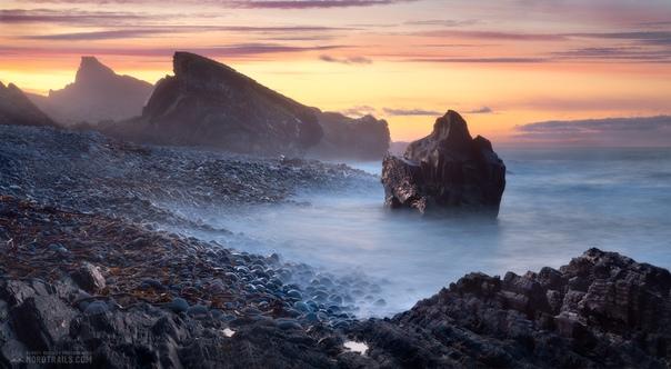 Закат на полуострове Рыбачий Фото: Королев Сергей
