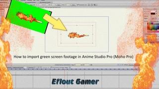 Видеоурок: Как импортировать футажи хромакей в Anime Studio Pro (Moho Pro)