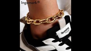 Винтажные кубинские ножные браслеты с цепочкой для женщин и мужчин, летние пляжные сандалии бохо