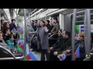 Bakı metrosunu hələm belə görməmişdiz... Hər kəs Bayraqlara sarıldı. Axıra kimi izləyin çox maraqlıdı....