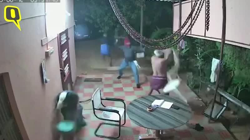 Caught on Cam Elderly Couple Fights Off Armed Robbers in Tamil Nadu