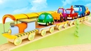 Мультфильм песенка про машинки Мокас - Вниз по железной дороге - Детские песенки онлайн