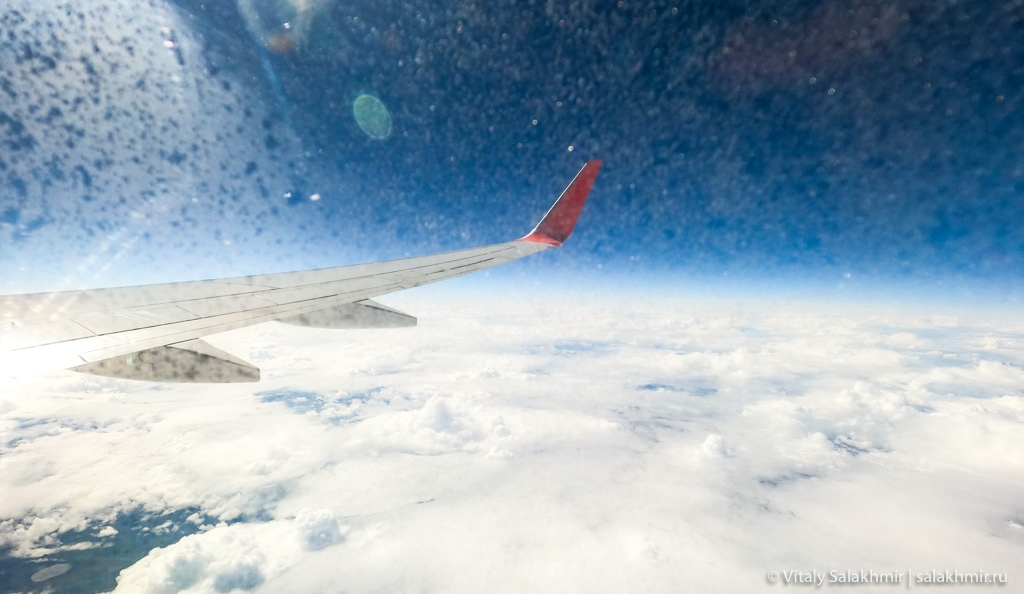 Небо над Санкт-Петербургом, перелет в Казань