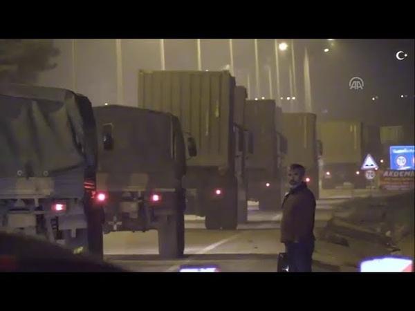Suriye ye fırtına obüs tank top u bataryası ile mühimmat sevkıyatı