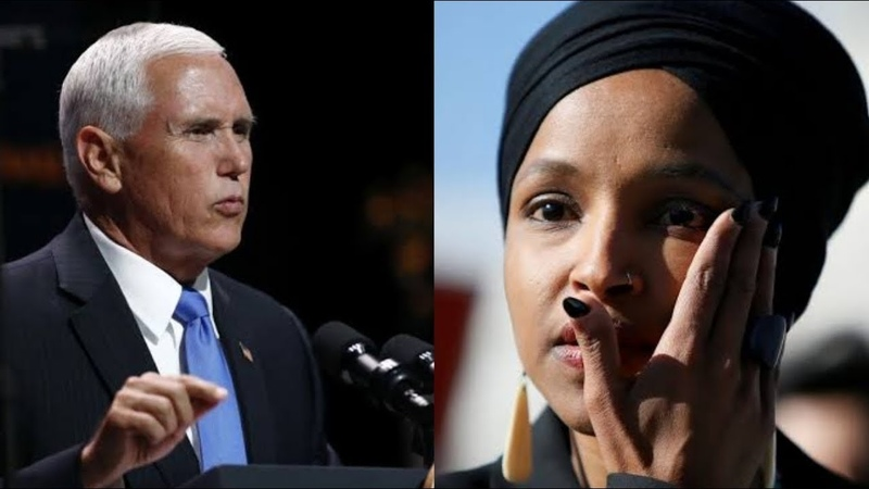 MIKE PENCE CALMLY GRILLS ILHAN OMAR TO SHREDS, GETS A STANDING OVATION