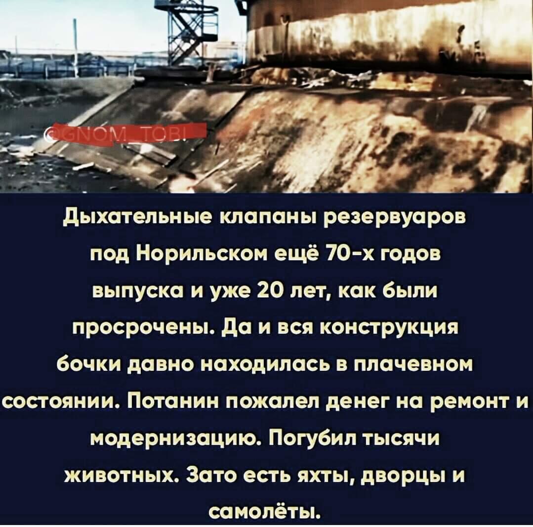 Об экологической катастрофе в Норильске
