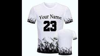 Пользовательские имя 3d печать смешные мужские o образным вырезом футболки модные топы мужская