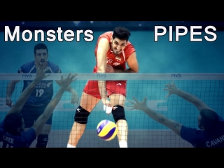 TOP 10 Monsters KILL volleyball PIPES