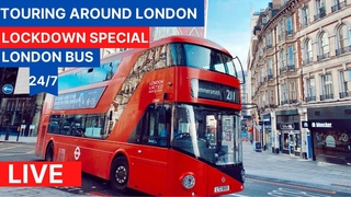 London Bus Ride 🇬🇧 -☀️See London on a Sunny Day 🌞- 24/7 Live Stream - Lockdown First Person View FPV