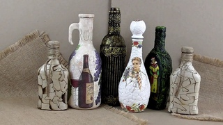 Декор бутылок/Bottle decor