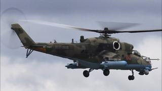 """Транспортно-боевой вертолет Ми-35М в Кубинке """"Армия-2020"""" / Авиация России /"""