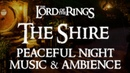 Lord of the Rings Music Ambience | The Shire, A Peaceful Night in Bag End - Relaxing Evening Rain