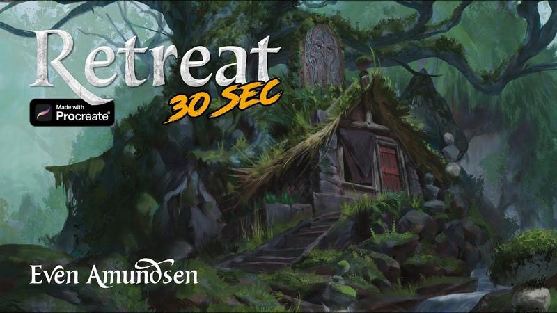Digital Speed Paint: The Retreat | TEGN | Fantasy Art