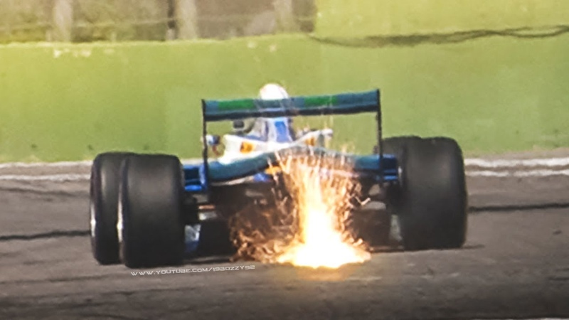 Benetton B197 F1 1997 w Judd 4 2 litre V10 Engine in action at Monza Imola