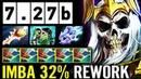 7 27b IMBA REWORK 32 Vampiric Aura RANGER Lifesteal Wraith King Rapier Max AS Dota 2 Pro Gameplay